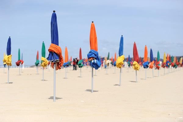 Promenade sur la plage de Deauville
